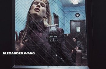 Anna Ewers Strips for Alexander Wang's Denim Photos (NSFW)