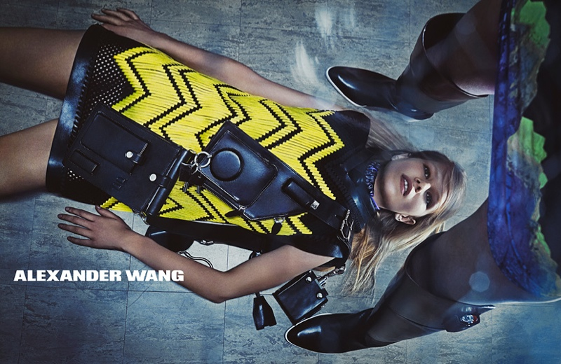 Anna Ewers in Alexander Wang's fall 2014 campaign photographed by Steven Klein