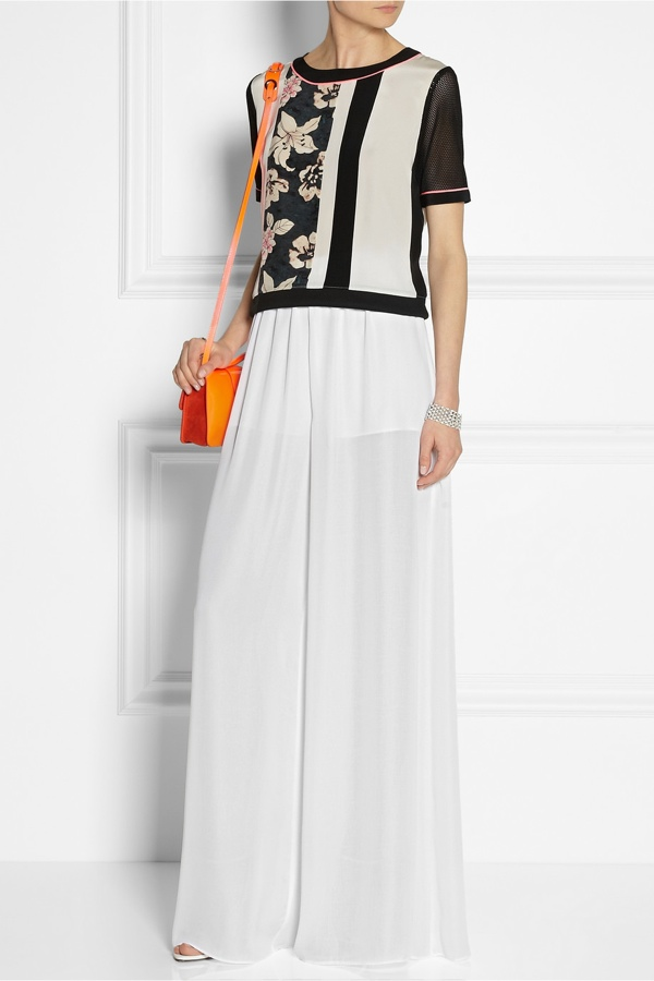 Alice + Olivia High-waisted chiffon culottes available at Net-a-Porter for $275.00