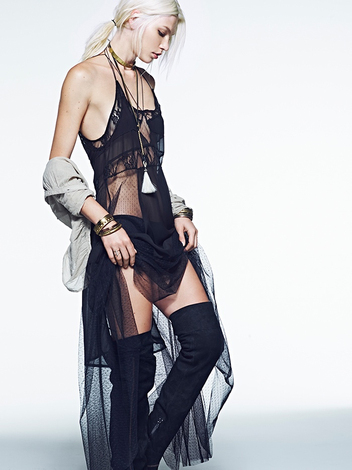 aline weber free people 2014 5 Aline Weber Stars in Free Peoples July Lookbook Featuring Western Trends