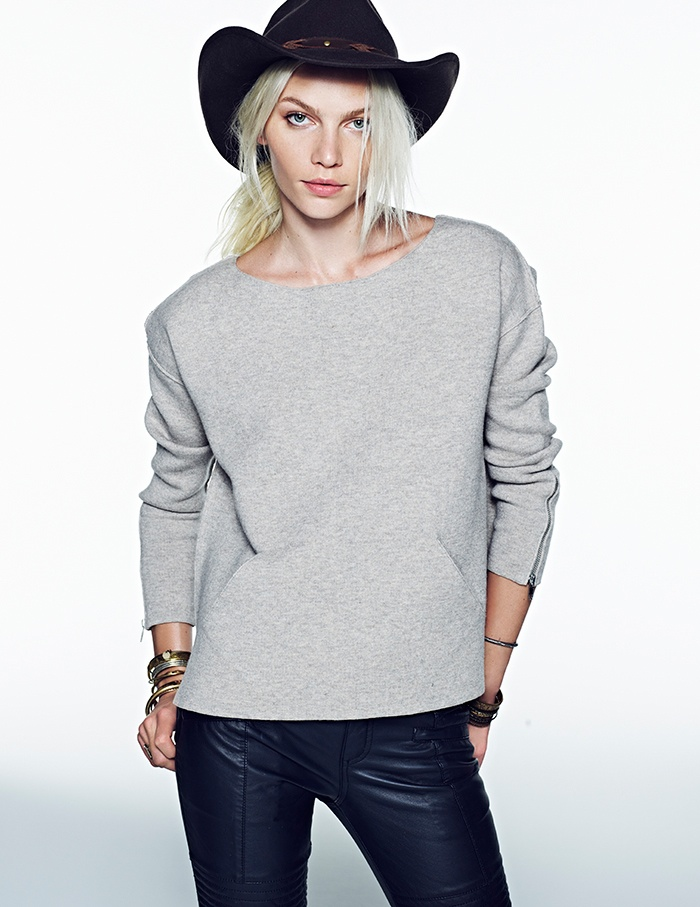 aline weber free people 2014 7 Aline Weber Stars in Free Peoples July Lookbook Featuring Western Trends