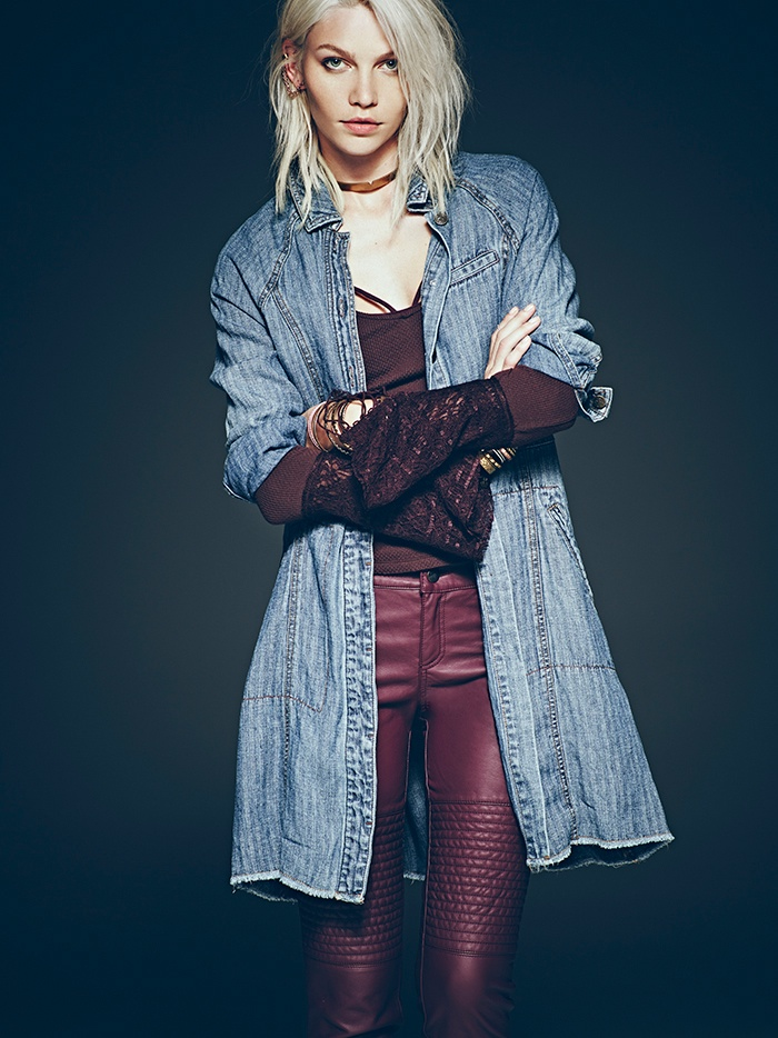 aline weber free people 2014 8 Aline Weber Stars in Free Peoples July Lookbook Featuring Western Trends