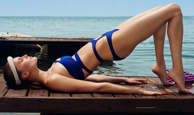 alla kostromichova swimsuits4 Alla Kostromichova in Swim Style for Bazaar Latin America by Danny Cardozo