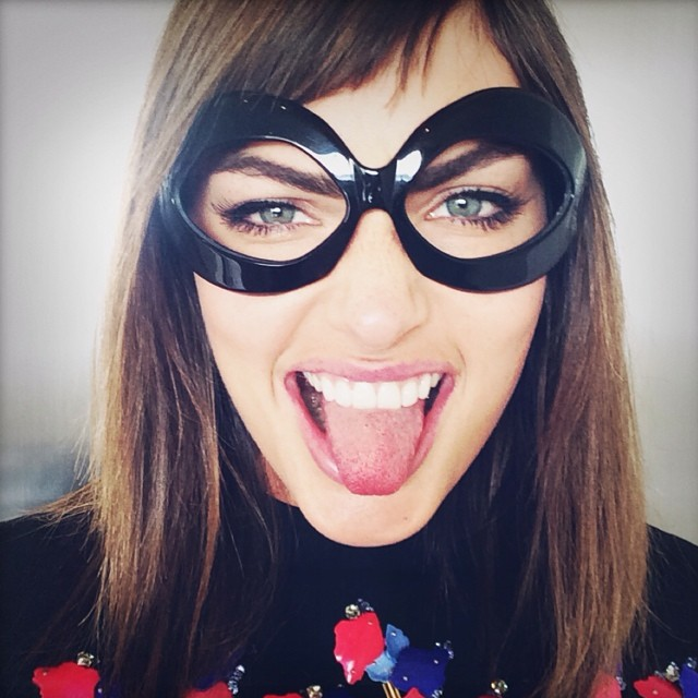 Alyssa Miller has fun with a masked look