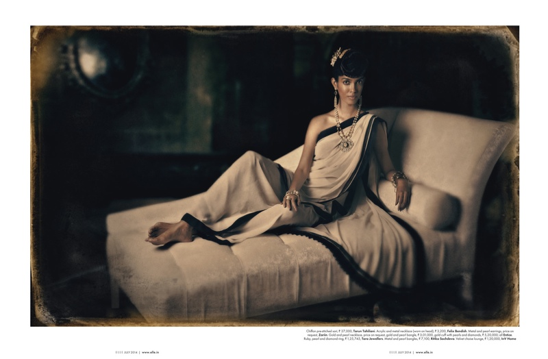 amazing grace india fashion3 Amazing Grace: Malini Banerjee by Tarun Khiwal for Elle India