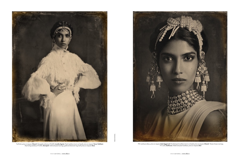 amazing grace india fashion4 Amazing Grace: Malini Banerjee by Tarun Khiwal for Elle India