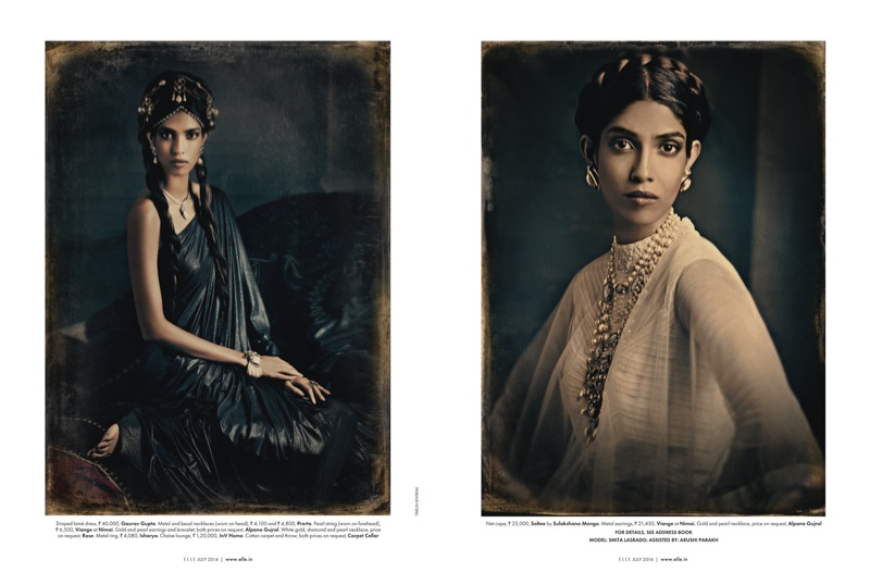 amazing grace india fashion6 Amazing Grace: Malini Banerjee by Tarun Khiwal for Elle India