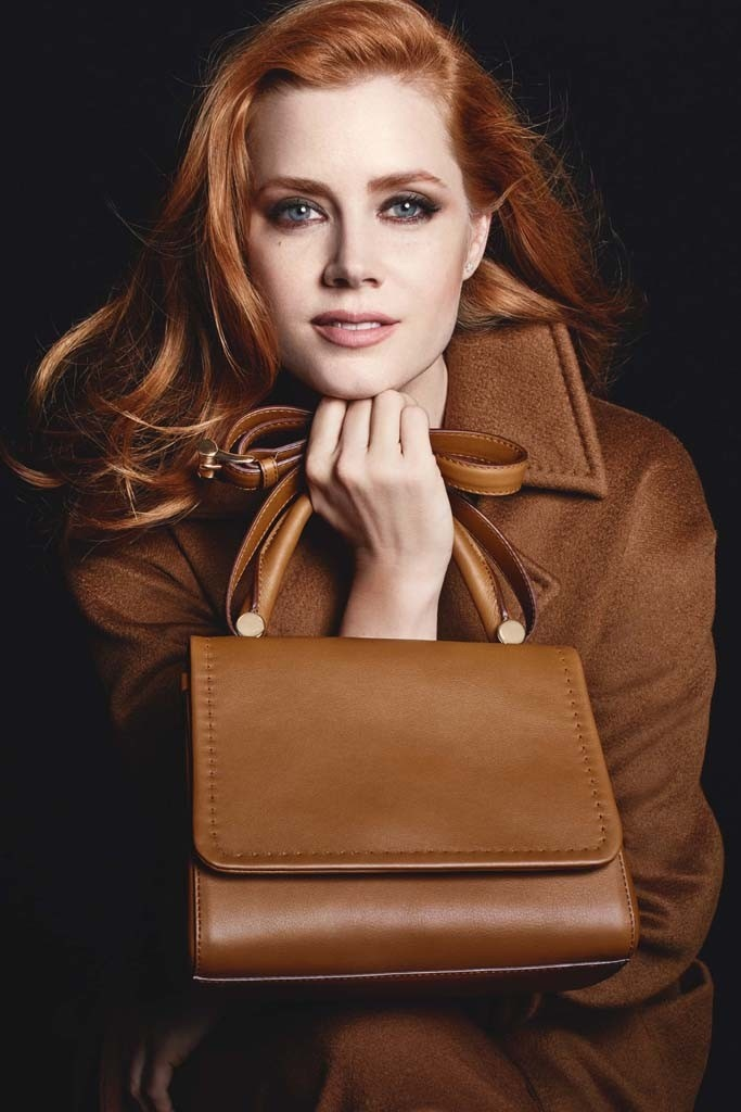 amy adams max mara 2014 campaign1 Actress Amy Adams Fronts Max Mara's Fall Accessories Ads