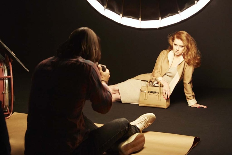 amy adams max mara 2014 campaign2 Actress Amy Adams Fronts Max Mara's Fall Accessories Ads