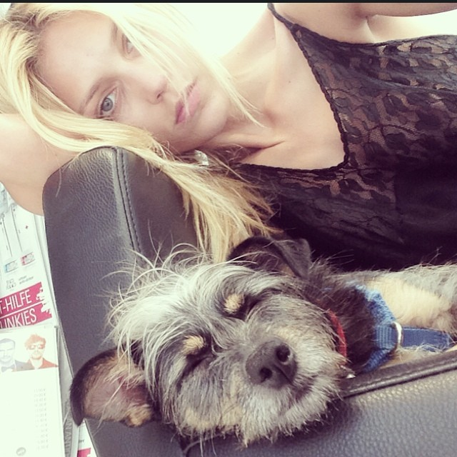 anja dog Instagram Photos of the Week | Karolina Kurkova, Doutzen Kroes + More Models