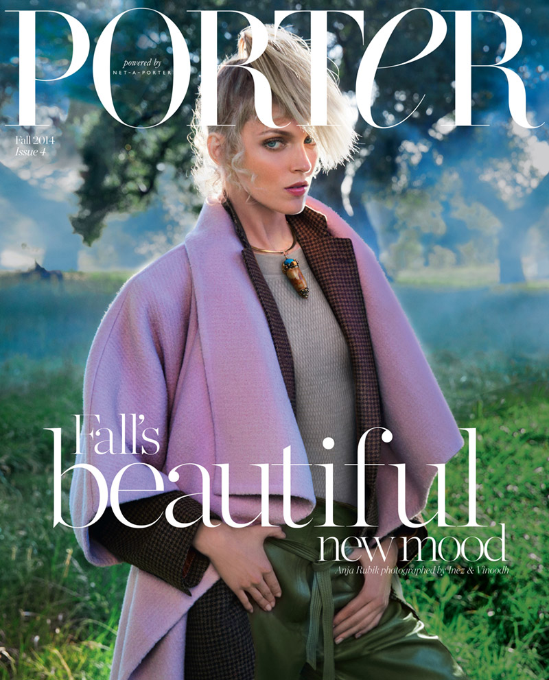 anja rubik porter magazine 2014 cover Anja Rubik is Countryside Chic for Porter Magazine Fall 2014 Cover