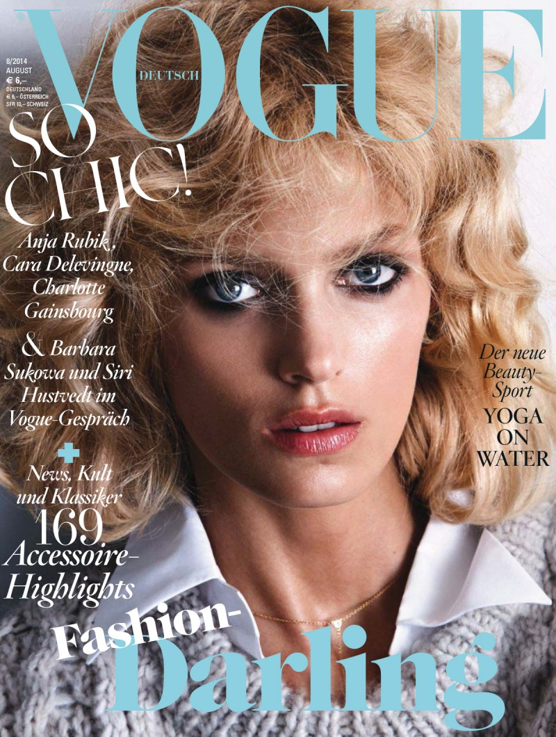 anja voge de cover 800x1060 Anja Rubik Channels Kim Basinger for Vogue Germany Cover Story by Camilla Akrans