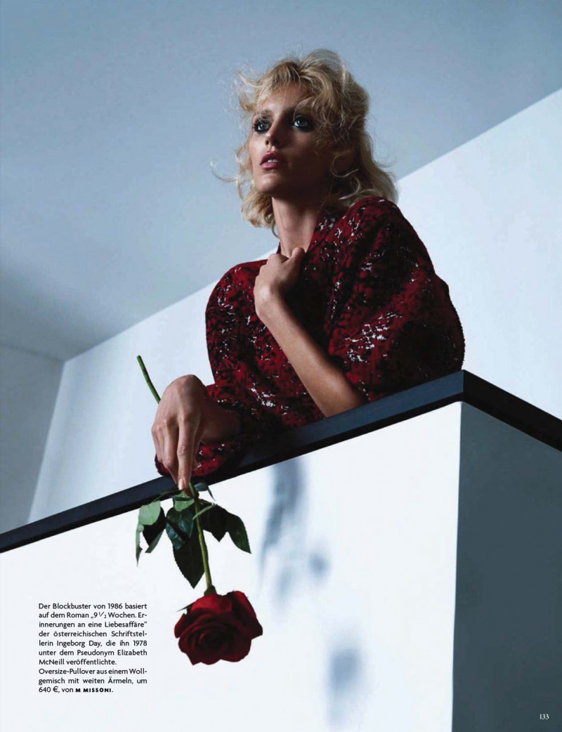 anja vogue de002 800x1042 Anja Rubik Channels Kim Basinger for Vogue Germany Cover Story by Camilla Akrans