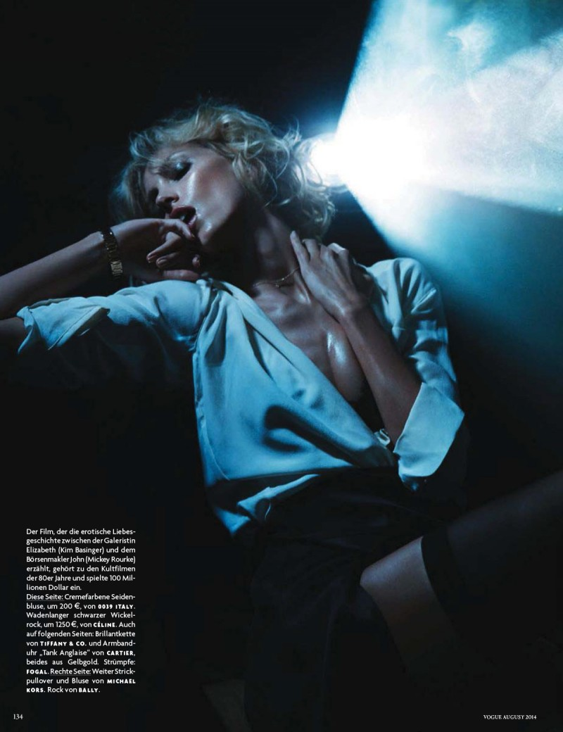 anja vogue de003 800x1040 Anja Rubik Channels Kim Basinger for Vogue Germany Cover Story by Camilla Akrans