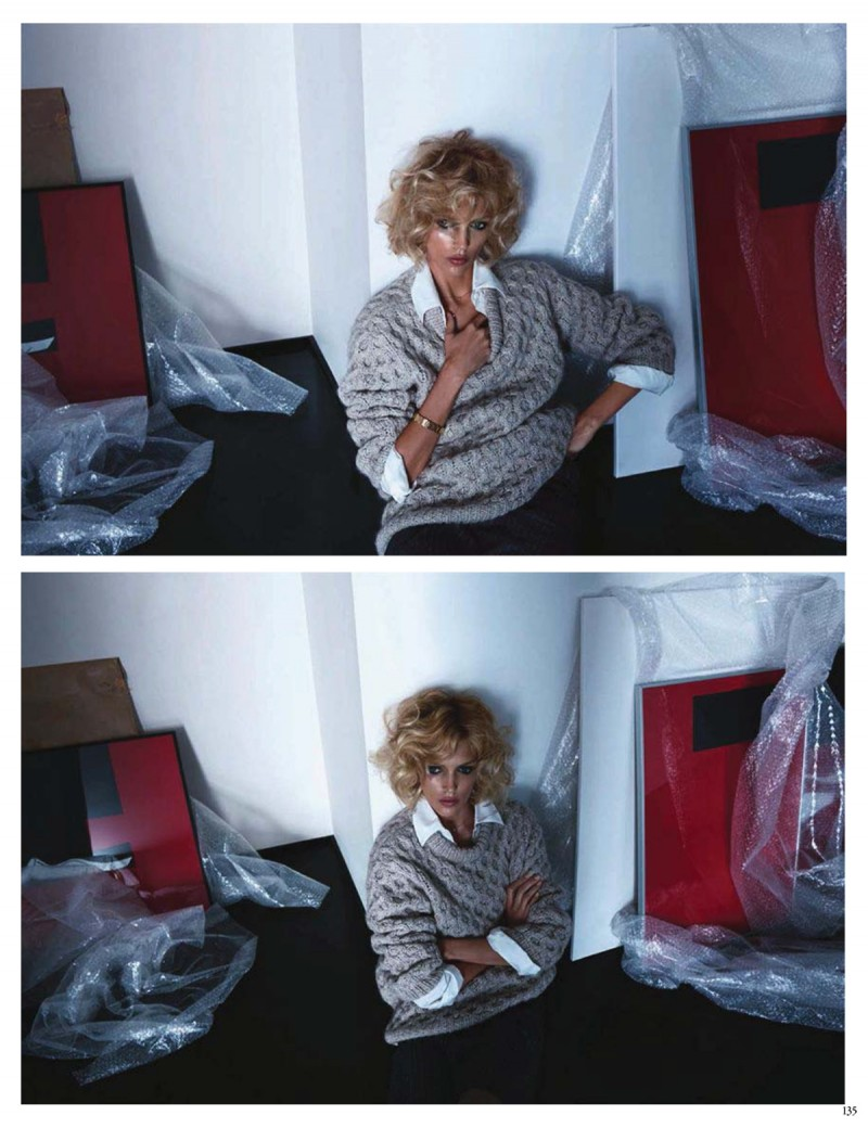 anja vogue de004 800x1040 Anja Rubik Channels Kim Basinger for Vogue Germany Cover Story by Camilla Akrans