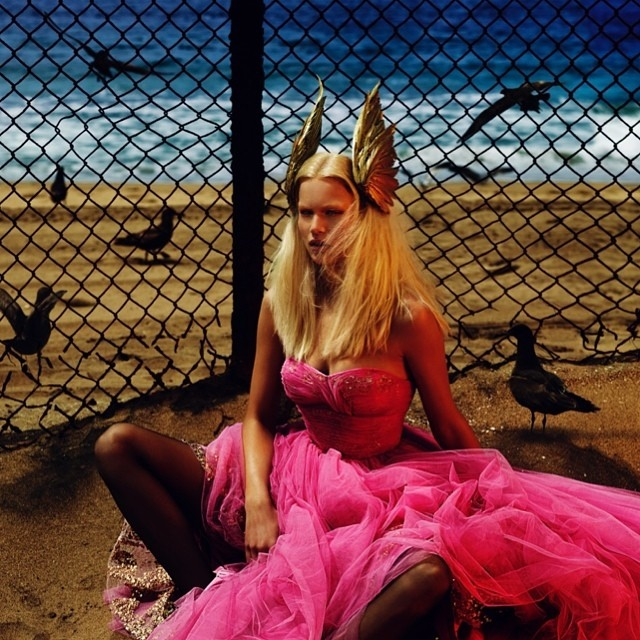 anna ewers mert marcus2 Anna Ewers Covers Vogue Paris August 2014 in 80s Chic Style