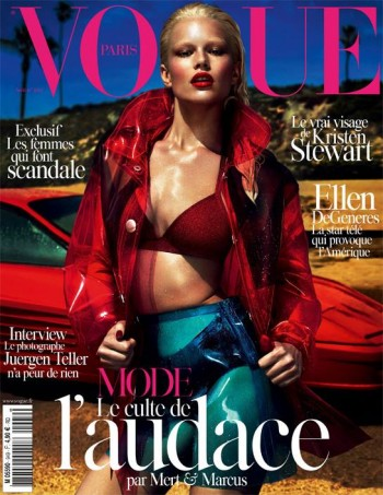 Anna Ewers Covers Vogue Paris August 2014 in 80s Chic Style