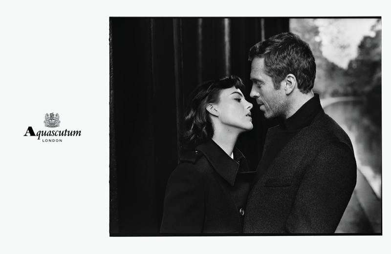 aquascutum 2014 fall winter campaign1 Eliza Cummings is Aquascutums Leading Lady for Fall