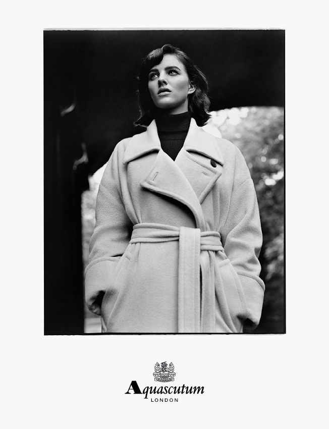 aquascutum 2014 fall winter campaign2 Eliza Cummings is Aquascutums Leading Lady for Fall