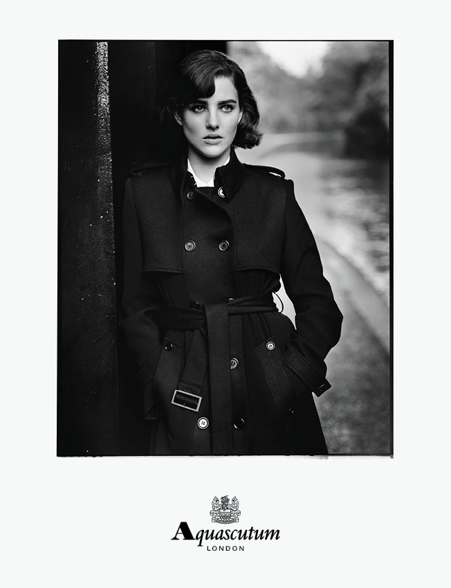 aquascutum 2014 fall winter campaign4 Eliza Cummings is Aquascutums Leading Lady for Fall