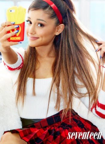 Ariana Grande is Selfie Obsessed in Seventeen Magazine Shoot