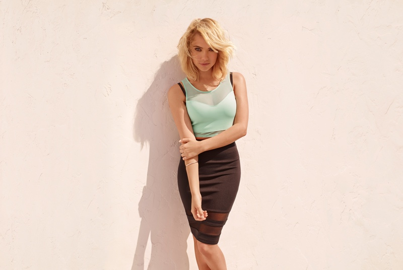 ashley benson hm divided 2014 ad photos More Photos of Ashley Bensons H&M Divided Campaign Released