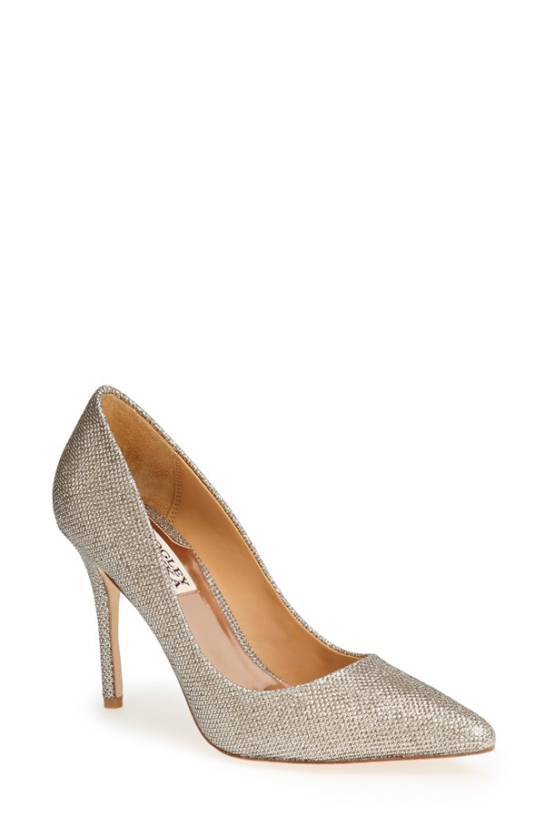 badgley mischka silver pumps Daily Find: Badgley Mischka's Lustre Pointy Toe Pump