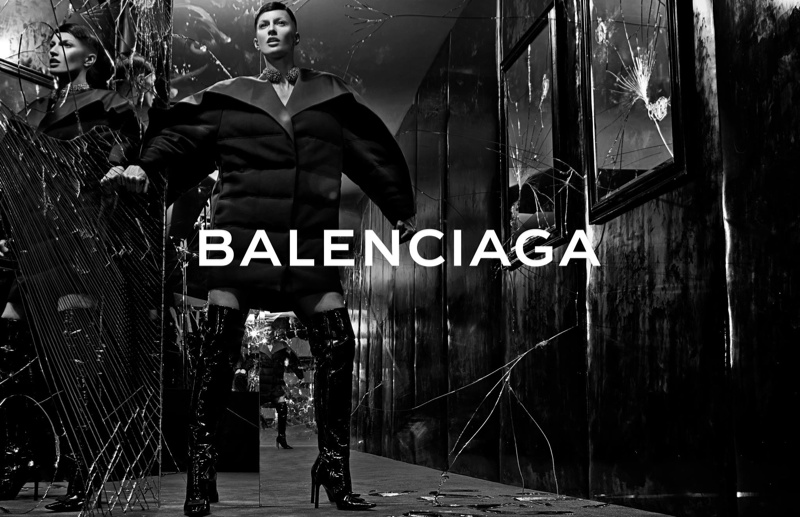 balenciaga fall 2014 ad Magic Revealed Behind Gisele Bundchens Balenciaga Buzz Cut