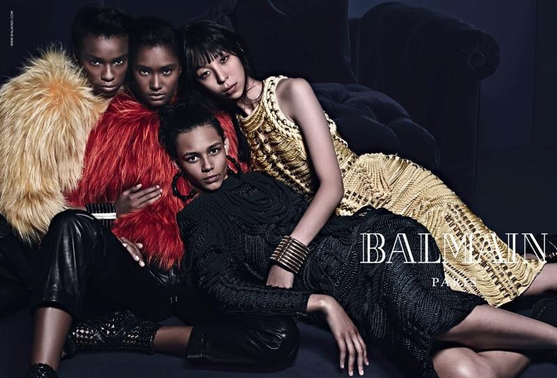 balmain campaign fall 2014 Balmain Fall Eyewear Campaign Images with Cara Delevingne & Jourdan Dunn