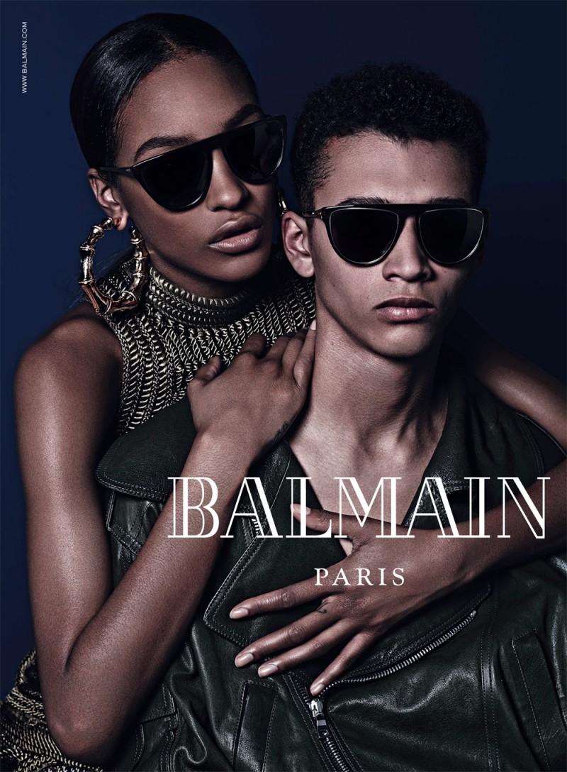balmain eyewear fall 2014 campaign2 Balmain Fall Eyewear Campaign Images with Cara Delevingne & Jourdan Dunn
