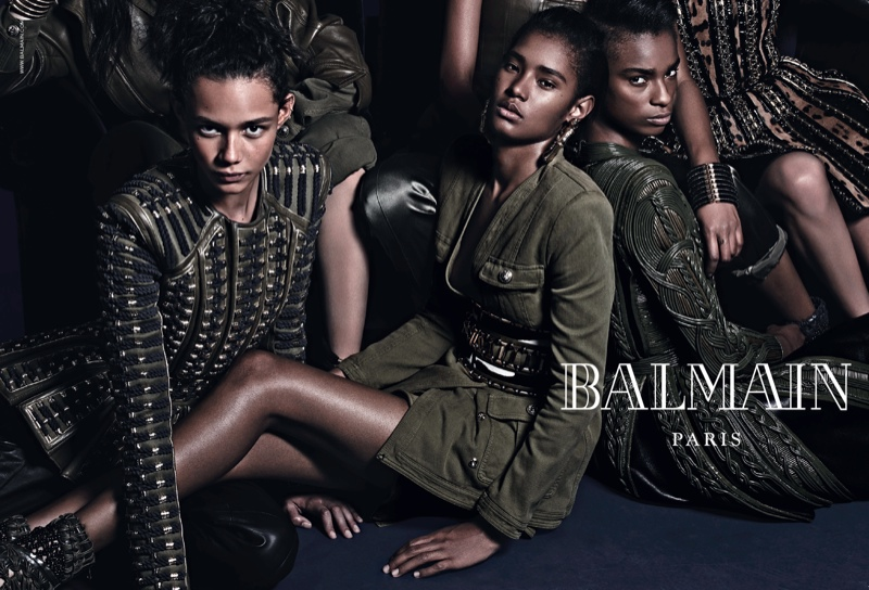 balmain fall 2014 ad cara delevingne3 More Images of Cara Delevingne, Jourdan Dunn for Balmains Fall Ads