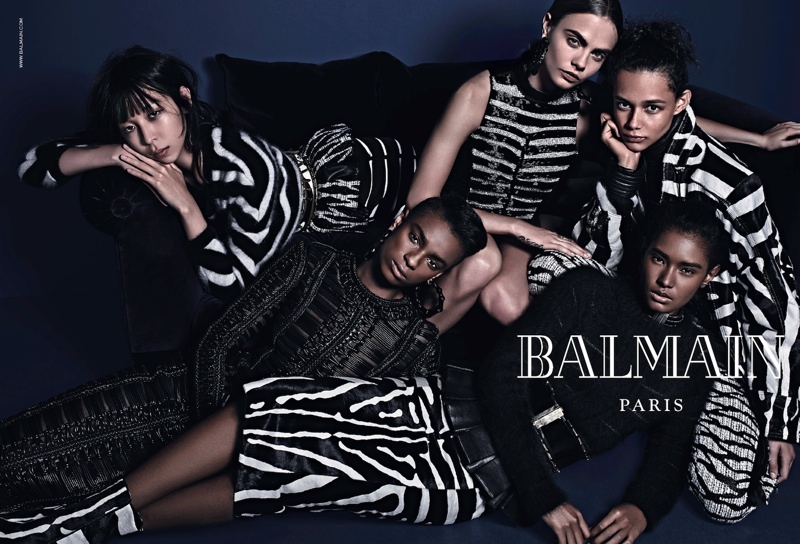 balmain fall 2014 ad cara delevingne4 More Images of Cara Delevingne, Jourdan Dunn for Balmains Fall Ads