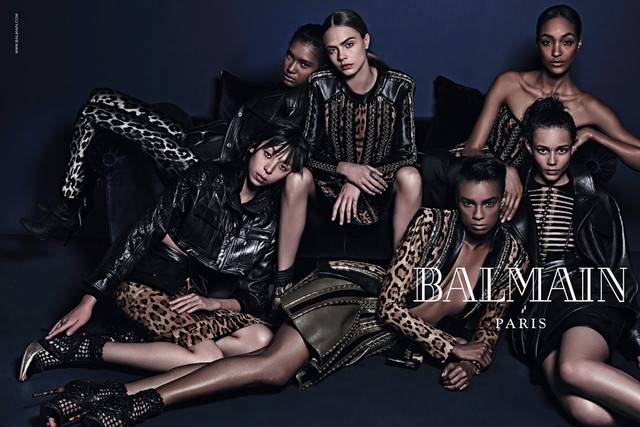 balmain fall winter 2014 campaign Balmain Taps Diverse Cast for Fall 2014 Campaign with Jourdan Dunn, Cara Delevingne