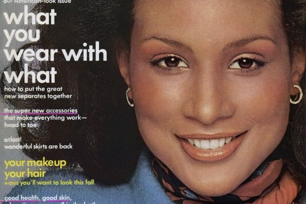 Beverly Johnson on Vogue's August 1974 cover. She was the first black model to cover the magazine.