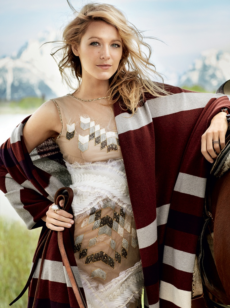 blake lively mario testino 2014 2 Blake Lively Lands August 2014 Vogue Cover, Talks New Website Venture