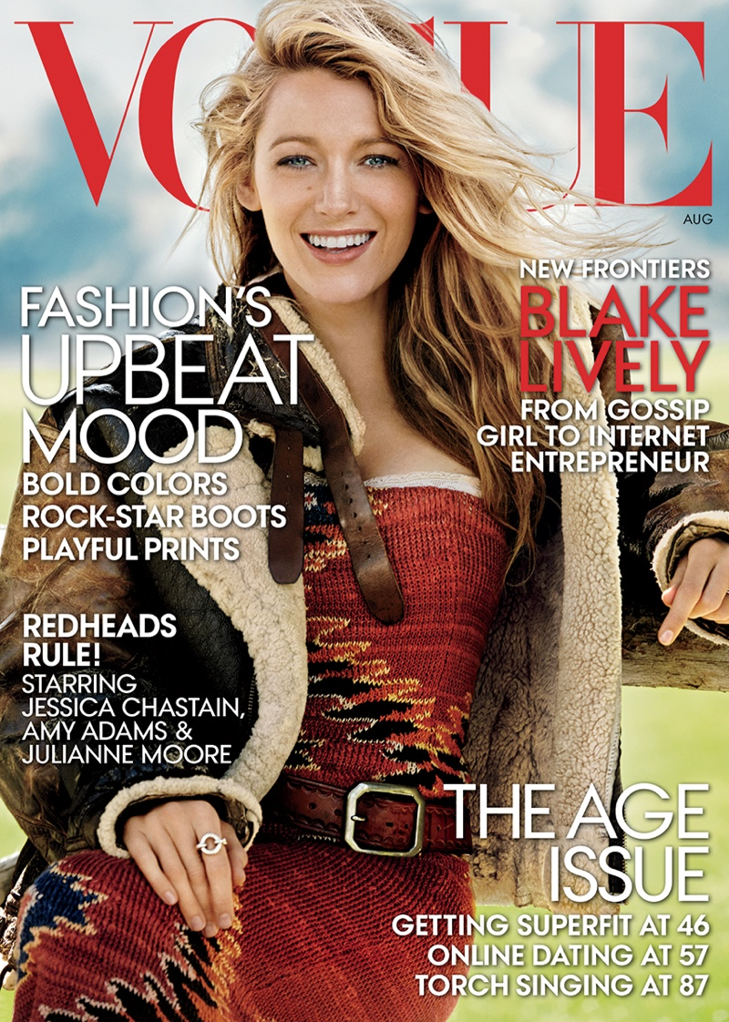 blake lively mario testino 2014 5 Blake Lively Lands August 2014 Vogue Cover, Talks New Website Venture