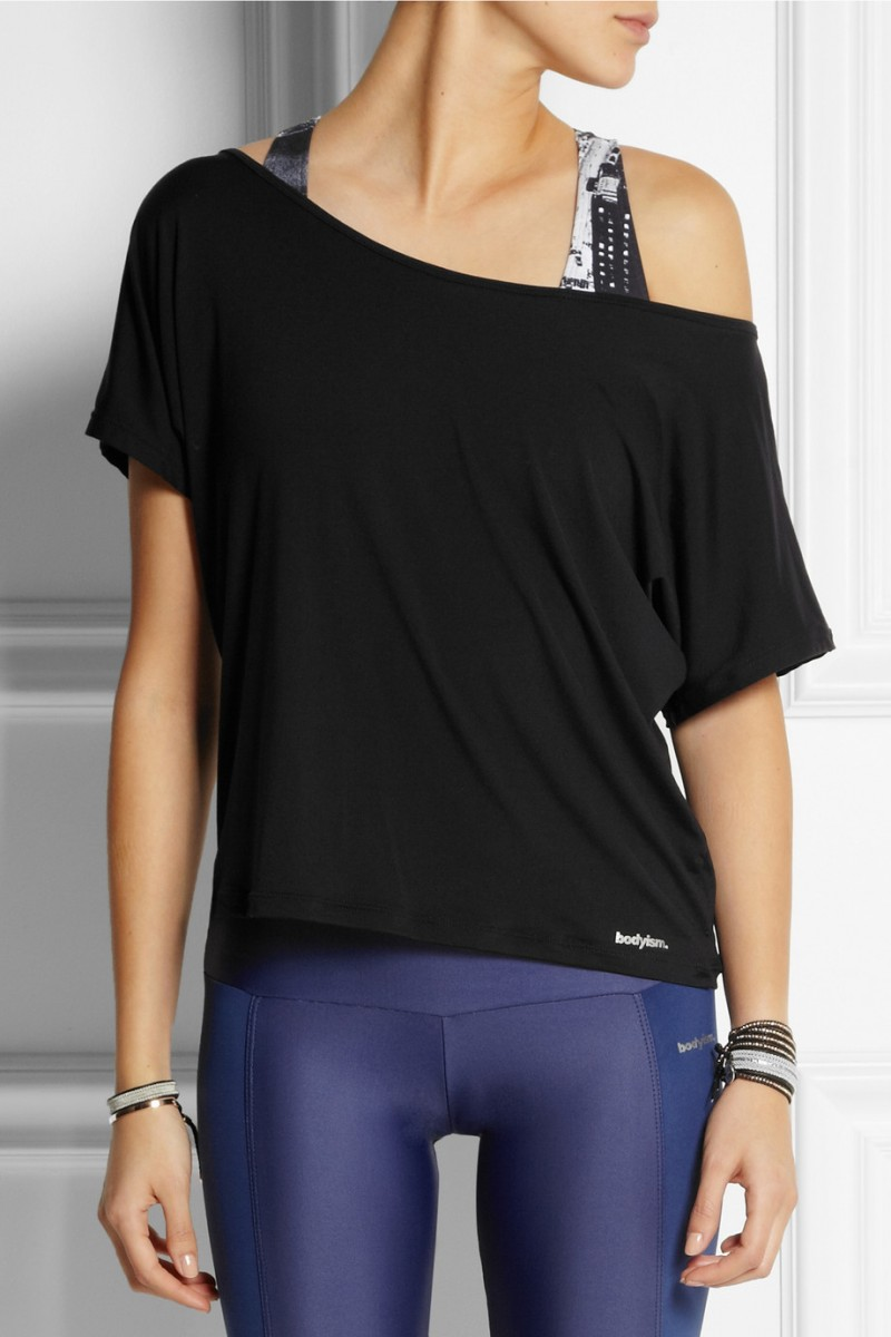 Bodyism Emma off-the-shoulder jersey T-shirt available at Net-a-Porter for $85.00