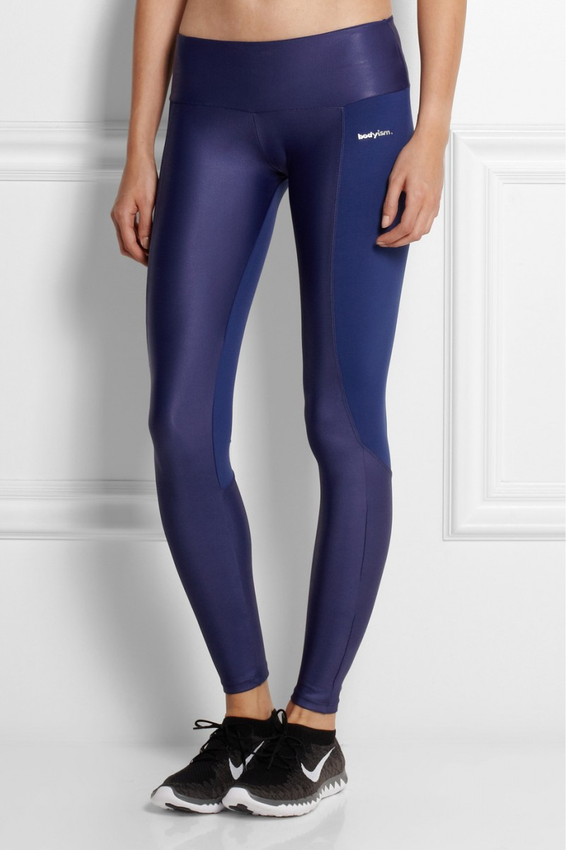 Bodyism I Am Shiny paneled stretch-jersey leggings available at Net-a-Porter for $145.00