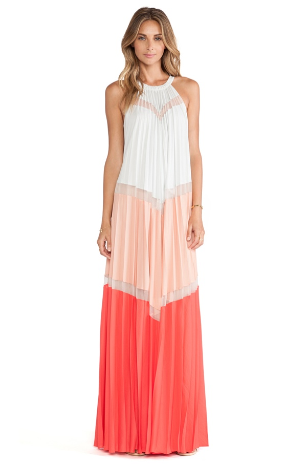 BCBGMAXAZRIA Color Blocked Maxi Dress available at Revolve Clothing for $543.00