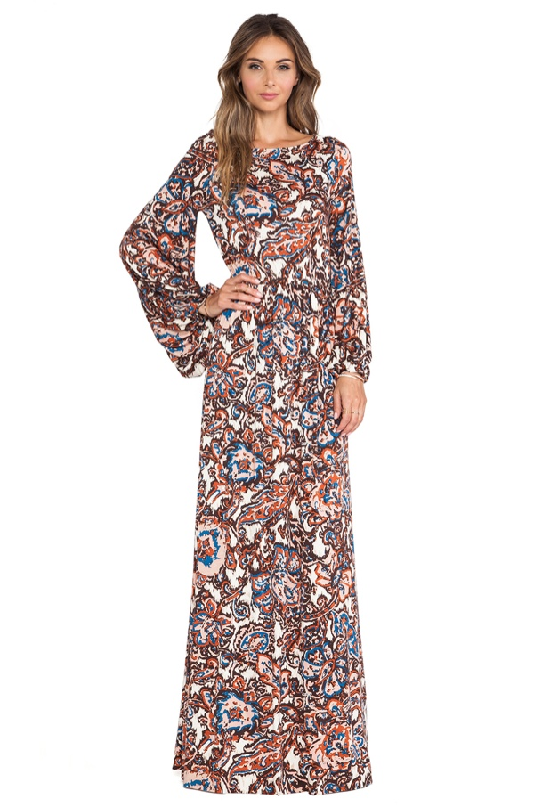 bohemian maxi dress rachel pally paisley 7 Bohemian Style Maxi Dresses to Let Out Your Inner Hippie