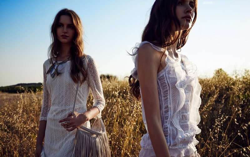 Margo & Vanessa Wear Bohemian Style for All Magazine by Ahmet Unver