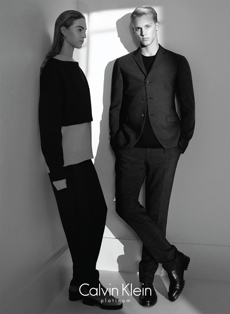Calvin Klein Platinum Fall 2014 Campaign with Vanessa Axente by David Sims
