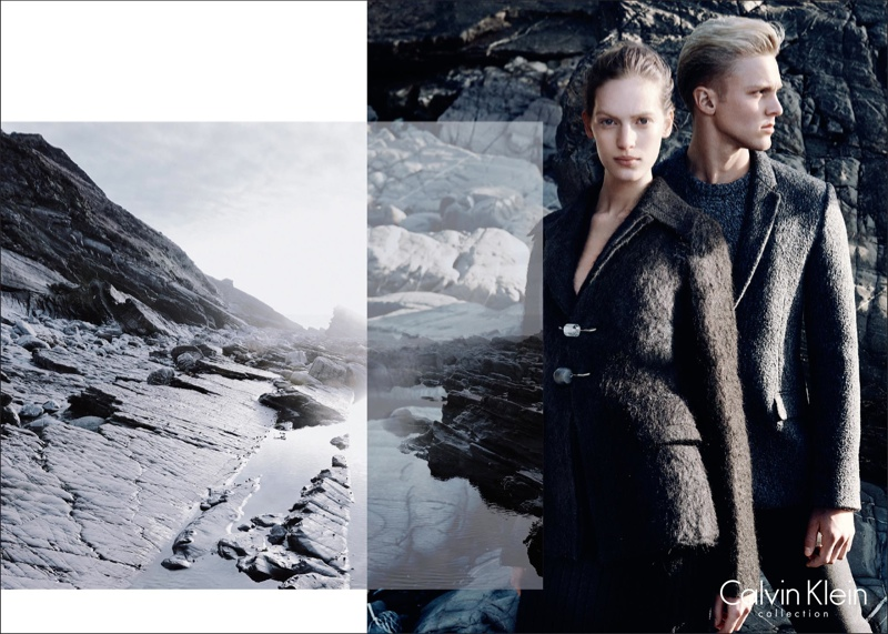 Calvin Klein Collection Fall 2014 Campaign with Vanessa Axente by David Sims
