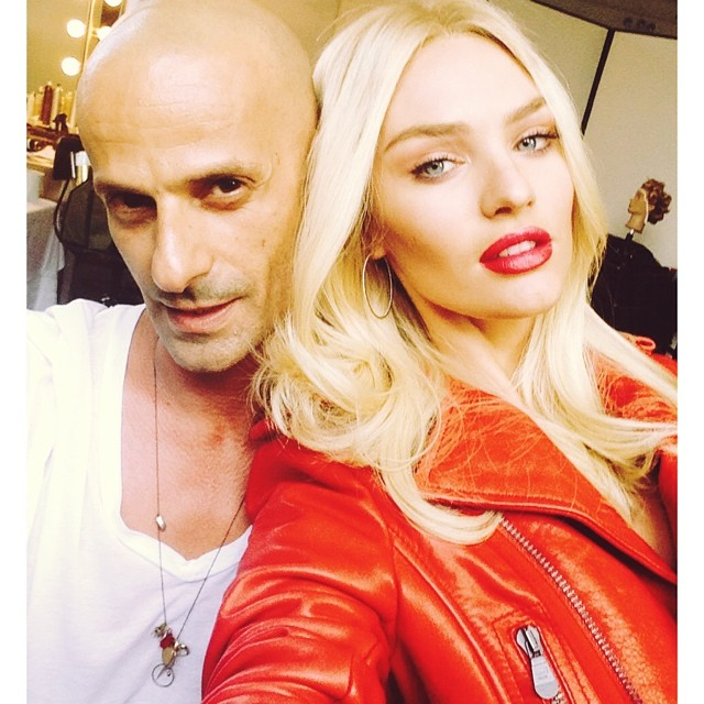 Candice Swanepoel rocks red jacket