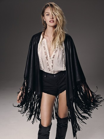 Candice Swanepoel is Western Chic for Free People's July Catalogue
