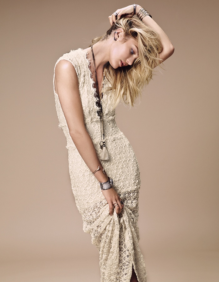 candice swanepoel free people 2014 3 Candice Swanepoel is Western Chic for Free Peoples July Catalogue