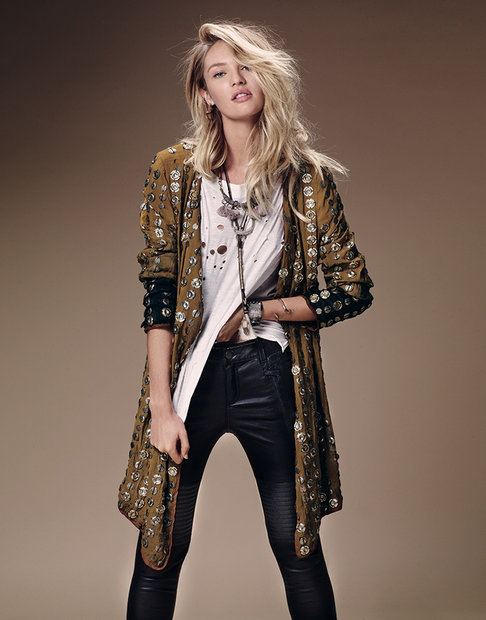 candice swanepoel free people 2014 7 Candice Swanepoel is Western Chic for Free Peoples July Catalogue