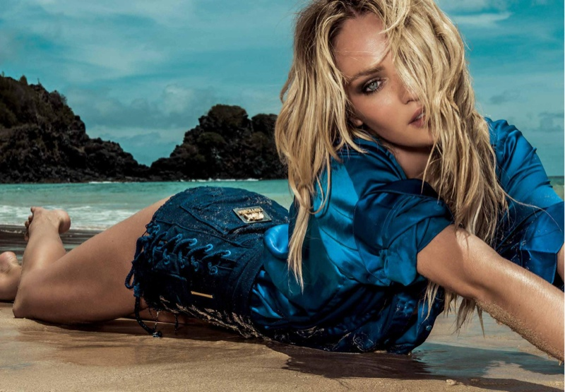 Candice Swanepoel is Smokin' Hot in Osmoze Jeans Spring 2015 Campaign