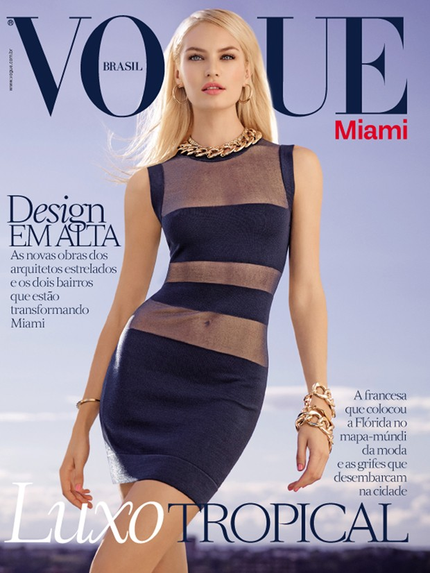 candice vogue brazil miami cover 2014 Candice Swanepoel Covers Special Miami Edition of Vogue Brazil