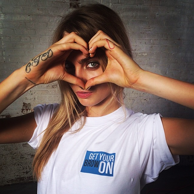 Cara Delevingne shows some love to her followers